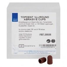Allround Abrasive Cup (small) (13 x 7 mm ¦ 80 µm), Csiszolókő, durva, kerek, 50 darab