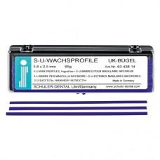 alsó állkapocs kengyel, (3,8 x 2,5 mm), Rudak, kék, 65 g, 1 Csomag