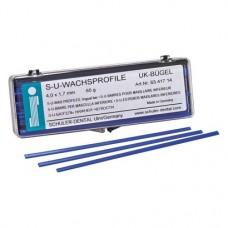 alsó állkapocs kengyel, (4,0 x 1,7 mm), Rudak, kék, 65 g, 1 Csomag