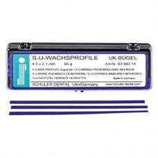 alsó állkapocs kengyel, (4,1 x 2,1 mm), Rudak, kék, 65 g, 1 Csomag