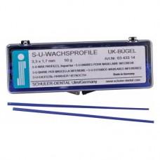 alsó állkapocs kengyel, (3,3 x 1,7 mm), Rudak, kék, 50 g, 1 Csomag