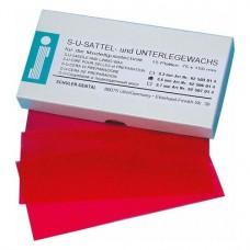 Alátétviasz, (150 x 75 x 0,60 mm), Lapok, piros, átlátszó, 15 darab