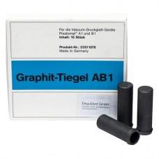 Graphit-Tiegel, 10 darabos csomag, AB1
