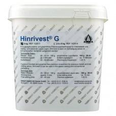 Hinrivest G, Beágyazó massza (K & H, Fémlemez) (Gipsz), ISO Típus 1, fehér, 5 kg ( 11 lbs ), 1 darab