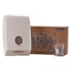 AQUARIUS™ Handtuchspender, 1 darab, Spender mit Sichtfenster fehér