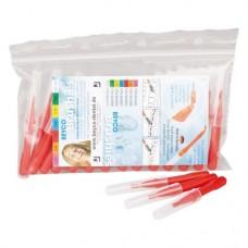 Beyco Brushies Sparbeutel 25 darab, piros, Ø 0,5 mm