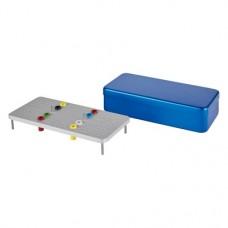 Endo Eco, (220 x 105 x 50 mm), (180x), Endo-tray, kék, Alumínium, 1 darab