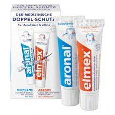 aronal® & elmex® Doppel-Schutz Packung 2 x 12 ml Zahnpasta