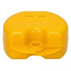 Fogszabályzó tartó doboz (Glitter), sárga, 1 darab