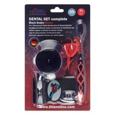 Dental szett, complete Packung Black Snake (1 Zahnbürste, 1 Zahnputzuhr mit Halter) braces