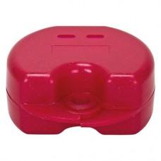 Fogszabályzó tartó doboz (Glitter), piros, 1 darab