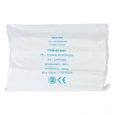 Kötény, (125 x 80 cm x 0,02 mm), Egyszerhasználatos termék, átlátszó, Polietilén, 1000 darab