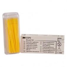 Applikációs ecset, Egyszerhasználatos termék, sárga, Műanyag, XS, 50 darab