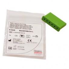 Betét, Könyökdarab (CAH, Ø 2,35 mm, ISO 205, 26 mm) világoszöld, műanyag, 1 darab