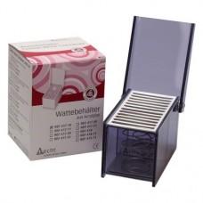 Behälter mit Deckel mit Stegen, 1 darab, rauchgrau