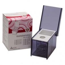 Behälter mit Deckel mit Rundloch, 1 darab, rauchgrau, schmal