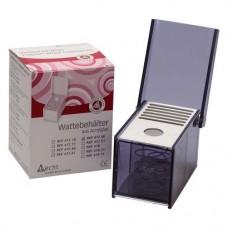Behälter mit Deckel mit Rundloch, 1 darab, rauchgrau, breit