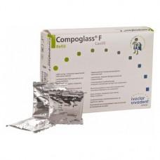 Compoglass F (110), Tömőanyag (Kompomer), Kapszulák, fluoridtartalmú, fényre keményedő, Kompomer, 250 mg, 20 darab