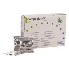 Compoglass F (140), Tömőanyag (Kompomer), Kapszulák, fluoridtartalmú, fényre keményedő, Kompomer, 250 mg, 20 darab