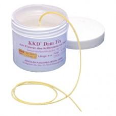 DamFix, Kofferdam rögzítő gumiszál, sárga, S (kicsi), 1 darab