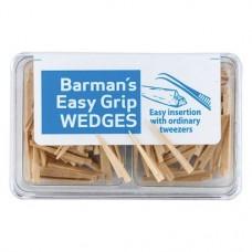 Barman Wedges (Easy Grip), Interdentális ékek, Egyszerhasználatos termék, bézs, Fa, 200 darab