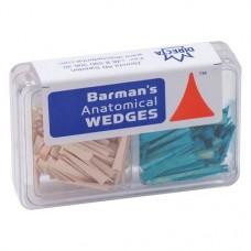 Barman Wedges (S - L), Interdentális ékek, Egyszerhasználatos termék, színkódolt, Fa, S - L, 200 darab