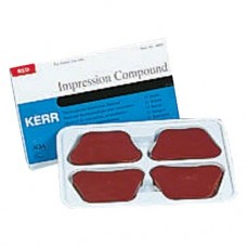 Impression Compound (8x), Lenyomatanyag (Polyéter), Lapok, piros, 226,8 g ( 8 oz ), 1 Csomag