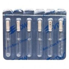 C-Pilot, Gyökércsatorna reszelő (kézzel), Fogantyú - műanyag ISO 15 sterilen csomagolva, röntgenopák, Nemesacél, 21 mm, 6 darab