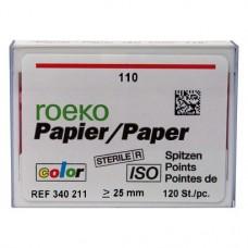 Color (ISO 110), Papírcsúcs, ISO 110 sterilen csomagolva, világospiros, Papír, 120 darab