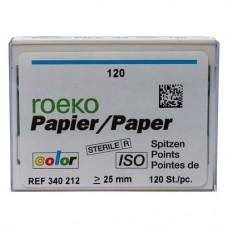 Color (ISO 120), Papírcsúcs, ISO 120 sterilen csomagolva, világosszürke, Papír, 120 darab