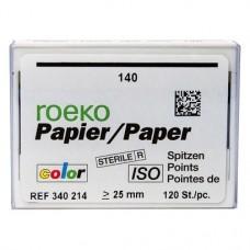 Color (ISO 140), Papírcsúcs, ISO 140 sterilen csomagolva, kék, Papír, 120 darab