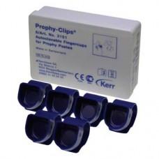 Cleanic Clip, Ujj-gyuru (Polírozó kehely), autoklávozható 134°C-ig, kék, Műanyag, 6 darab