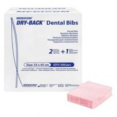 Dry-Back Dental Bibs (W), Szalvéták, fehér, 3-rétegu, 33 cm x 45,5 cm, 500 darab