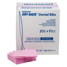 Dry-Back Dental Bibs, Szalvéták, rosé, 3-rétegu, 33 cm x 45,5 cm, 500 darab