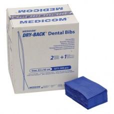 Dry-Back Dental Bibs (DB), Szalvéták, sötétkék, 3-rétegu, 33 cm x 45,5 cm, 500 darab