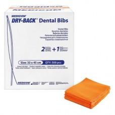 Dry-Back Dental Bibs, Szalvéták, narancs, 3-rétegu, 33 cm x 45,5 cm, 500 darab