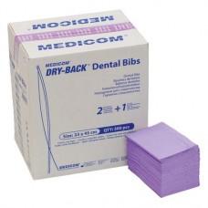 Dry-Back Dental Bibs, Szalvéták, levendula, 3-rétegu, 33 cm x 45,5 cm, 500 darab